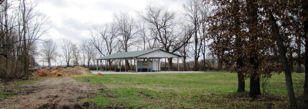 Picnic shelter on the west-side portion of Irwin's Park, 2016 (SCHS photo)