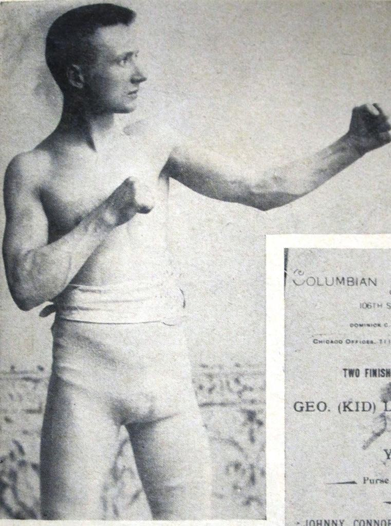 Johnny Connors as a boxer (Courtesy Rob Paul, Prairie Archives)