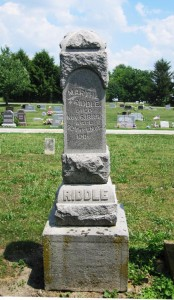 Martha Riddle's tombstone in Old Salem Cemetery (SCHS)