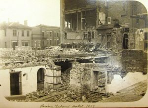 The ruins of the old Leland, 1908 (SVC)