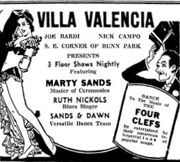 Villa Valencia ad, 1936