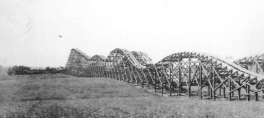Zoo Park's roller-coaster in an undated photograph (Sangamon Valley Collection)