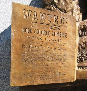 "Advertisement for ""colored workers"" reproduced on the monument"