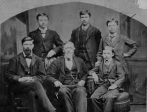 Victim J.C. Hall with five of his eight sons (ancestry.com)