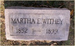Mattie Withley gravestone, Oak Ridge Cemetery (findagrave.com)