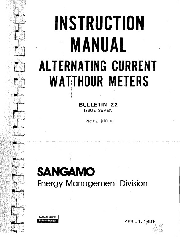Meter serial numbers p1