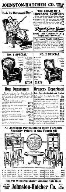 A 1916 Johnston-Hatcher advertisement (Courtesy SJR)