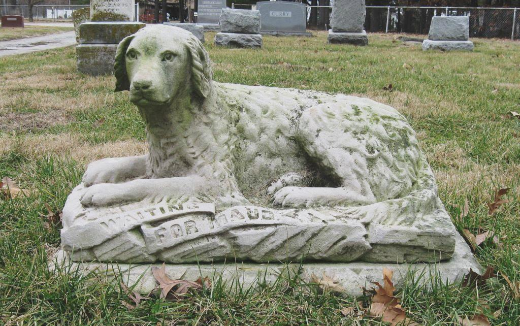 """Waiting for Maud"" gravestone, Oak Hill Cemetery (SCHS photo)"