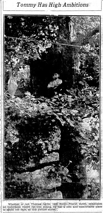 Illinois State Journal front-page photo, July 18, 1930 (Courtesy State Journal-Register)
