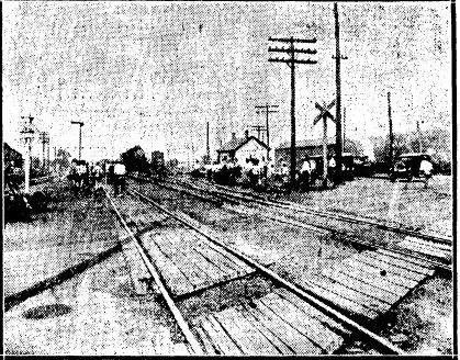 """""""Deadman's Crossing"""" the day Arthur and Laura Withrow were killed in 1928. (State Journal-Register; used with permission)"""