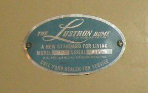 Serial number plaque in Bryan Weinhoeft home