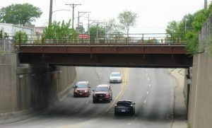 Sangamon Avenue underpass in May 2017 (SCHS)