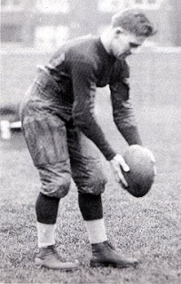 Joey Sternaman during his year as a Chicago Bull; as a kicker, he specialized in drop-kicking.