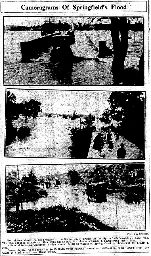 """Cameragrams"" in the Sept. 10 newspaper illustrated the extent of the Sept. 8 flooding. (Courtesy State Journal-Register)"