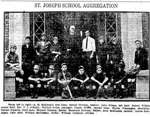 The St. Joseph School baseball team; photo published in Sept. 21, 1913 Illinois State Register (Courtesy SJR)