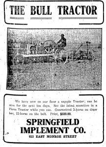 Bull tractor advertisement, 1914