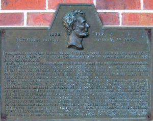 Gettysburg Address; plaque dates from 1940 SCHS)