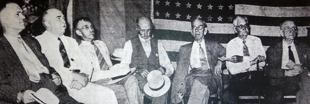 Officers of the Old Settlers Society of Sangamon County, 1939. Isaac Diller is on far right (Courtesy State Journal-Register)