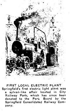 Drawing from Springfield Gas & Electric Co. ad, 1918 (courtesy SJ-R)