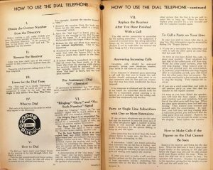 """How to use the dial telephone"" pages in red directory"
