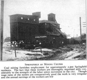 Sangamon County coal mine circa 1914 (Springfield Survey)