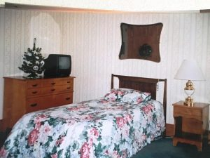 A typical bedroom at the King's Daughters Home (KDO)