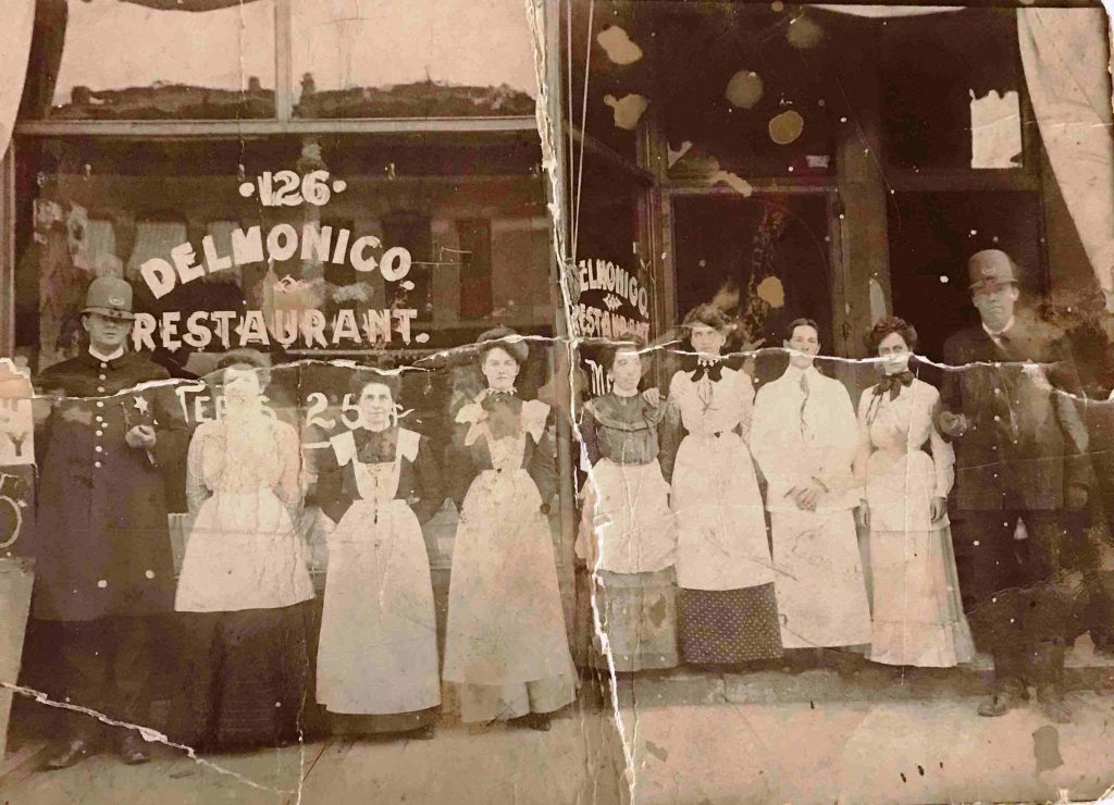 Delmonico Restaurant, 126 N. Fifth St., about 1900 (courtesy Floyd Roy)