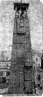 Springfield fire houses originally each had their own bell to warn residents of fires. They were all replaced by this tower , built in 1890 at the engine house on Fourth Street between Monroe Street and Capitol Avenue (Courtesy SJ-R)