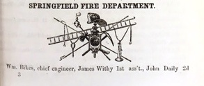 Fire department logo, from 1869-70 Springfield City Directory