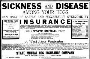 Littlejohn got his start in central Illinois by insuring hogs.