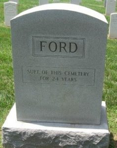 George W. Ford's tombstone at Camp Butler National Cemetery (Findagrave.com)