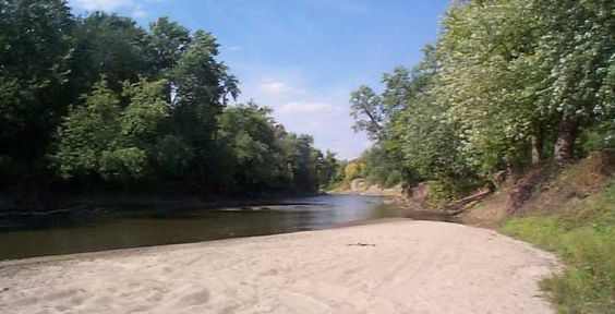 The Sangamon River at Wheeland Beach, Riverton (Chuck Stone)