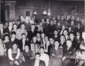 Early members of the Riverton Athletic Club celebrate the club's first anniversary, 1938 (SVC)