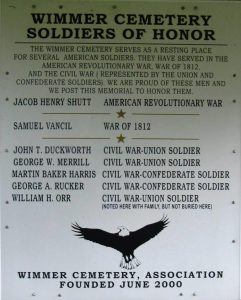 Plaque recognizes veterans burials at Wimmer